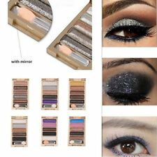 Womens Girls Eyeshadow Glitter Natural Shimmer Palette Warm Eye Shadow Makeup