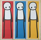 Stik Book Print Set Signed Red Blue Yellow 2015 Rare + Signed Doodled Book