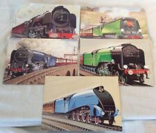 """Joblot Bundle Of 5x Collectable """"Age Of Steam"""" Railway Postcards **Unposted**"""