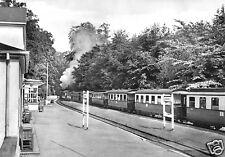 AK, Ostseebad Heiligendamm, Bahnhof mit Zug der Bäderbahn, 1967