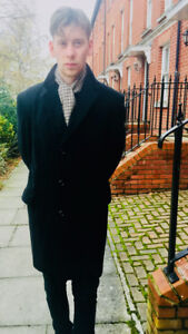 WOOL HEPWORTHS SINGLE BREASTED MENS WINTER COAT EXCELLENT CONDITION SIZE 42