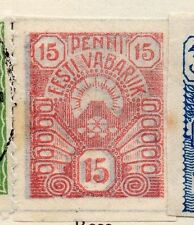 Estonia 1919 Early Issue Fine Mint Hinged 15p. 066652