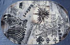 "Moderner Teppich Oval Kollektion ""Graffitti"" ov1615/110 Grau, Zebra SALE."
