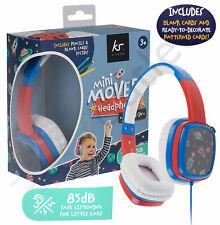 Kids Over Ear Headphones KitSound Childrens Boys Earphones Blue iPad/Tablet mini