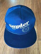 A4 Vintage Snyder Volvo Truck Center Construction Equipment Trucker Snapback Hat