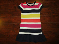 GIRLS CHILDRENS PLACE SWEATER DRESS SIZE M 7/8 PINK ORANGE YELLOW BLUE School