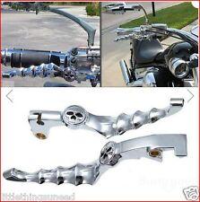 Motorcycle,Skull,Brake,&,Clutch,Lever,for,Honda,Shadow,custom,chop,trike,project