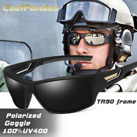 Mens Army Sunglasses Goggles Military Windproof Polarized Lens Tactical UV400