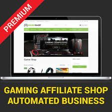 AFFILIATE GAMER SHOP -  AUTOMATED BUSINESS WEBSITE FOR SALE
