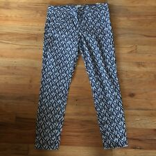 Gap Ultra Skinny Stretch Womens Pants Size 6  Blue White Chevron Print