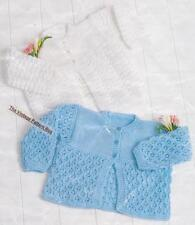 BABY CARDIGANS / 2 styles - sizes birth to 1 year - 8ply or D.K. / COPY pattern
