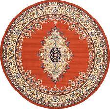 Traditional Persian Style Rugs Carpet 8' 0 x 8' 0 Orange Mashad Design Rug
