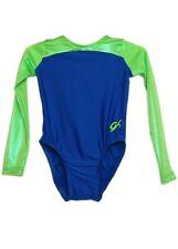 Gk Elite Lime Hologram/Blue Gymnastics Leotard - Axs Adult Extra Small 4215