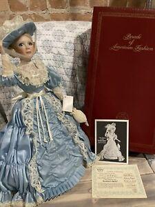 "Ashton Drake Charm of the Southern Belle Doll 17"" porcelain Box & COA"