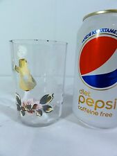 Victorian Enamel Decorated Tumbler - Mary Gregory Girl