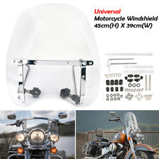 "Large Windshield Hardware Motorcycle 7/8 & 1"" Handlebars Wind Screen Universal"