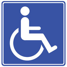 DISABLED WHEELCHAIR USER STICKER BLUE BADGE HOLDER CAR STICKER BADGE DECAL X 2