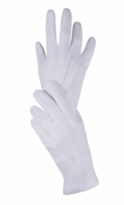 Ladies White Masonic Services Gloves Sizes from X-Small to XL