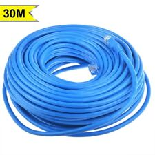 100FT RJ45 CAT6 550MHz High Speed Ethernet Internet LAN Network Patch Cable Blue
