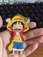 One piece Luffy hand up silica gel key chain key chains figure pendant ANIME