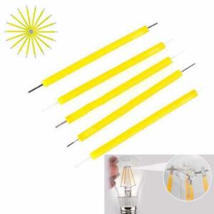 10Pcs 3V. Super Bright COB LED Solar Filament Bulb Candle Light Home Lamp Source