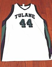 Vintage Tulane Green Wave Game Used Basketball Jersey Worn by #44 Ivan Pjavcevic