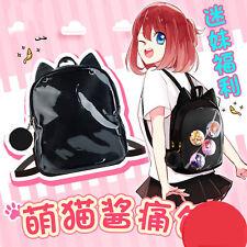 Comic Transparent Clear Candy Jelly Bag Cat Ears Backpack Neko Atsume ねこあつめ