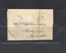 Stampless cover postmarked Hartford, CT  from 1838