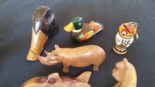 19* Animals - Wood Hand Carved - African - Misc