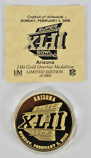 Super Bowl XLII Highland Mint 24kt Gold Overlay Medallion LE of 5000