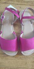 NEXT girls pink suede sandals, size 1 UK, 33 EUR BNWT