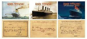 "2012 RMS TITANIC * 100th Anniversary * 3 Jumbo Card Set 3.5""x5.5"" NM-MT * BOGO *"