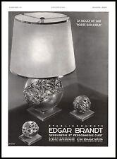 Publicité Design Edgar Brandt Art Deco vintage print ad 1932 -4i