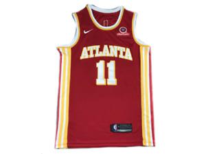 Mens Atlanta Hawks Trae Young Nike 2021 Swingman Jersey Association Edition Red