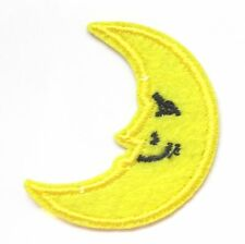 Moon Face Iron On Patch- Sky Stars Night Embroidered Badge Applique Crafts