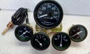 Jeep Gauges Kit Willys and more mechanical speedo temp oil amp fuel