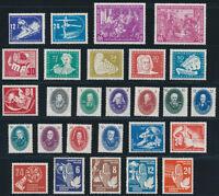 DDR 1950, Jahrgang komplett postfrisch, ohne Bl.7 u. Pieck I, Mi. 369,-