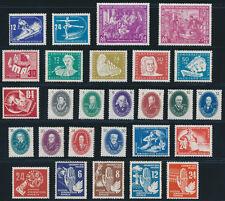 DDR 1950, Jahrgang komplett postfrisch, ohne Bl.7 u. Pieck I, Mi. 347,-