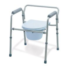 Medline Heavy Duty Bedside Bariatric Commode - Extra Wide Commode Capacity 350LB