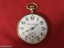 SCARSE 1916 HAMPDEN CHRONOMETER 16s GOLD FILLED POCKET WATCH 21 JEWELS SERVICED