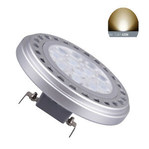 Led AR111 Bulb G53 Spotlight 15W Day Light 4000k DC12V Reflector Track Light