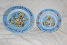 Kids DVC Hard Plastic 2 Cereal Bowl 1 Plate Yummy camping pêche picnic