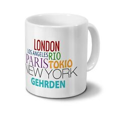 "Städtetasse Gehrden - Design ""Famous Cities in the World"""