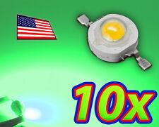 [10x] 1W Bright Green High Power LED Lamp Beads 70-80Lm 1 Watt