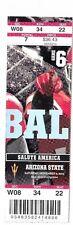 2013 UTAH UTES VS ARIZONA STATE COLLEGE FOOTBALL FULL TICKET STUB 11/9/12