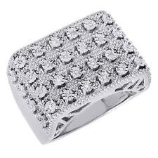 Genuine Round Diamond Fashion Pinky Ring Mens .925 Sterling Silver 0.10 Ct.