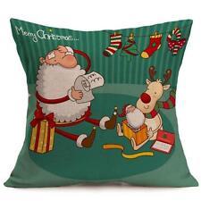 Christmas Cartoon Decoration Home Sofa Decor Pillow Case Cushion Cover C4