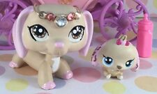 NEW Dachshund Littlest Pet Shop Dog Mommy And Baby, OOAK Custom, Hand Painted