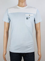 NEW Duck & Cover mens size S blue white crew neck t shirt