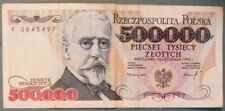 POLAND 500 000 500000  ZLOTYCH NOTE , P 161, ISSUED 16.11. 1993